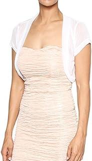 TheMogan Women's Sheer Mesh Short Sleeve Bolero Shrug Dress Layer Crop Card