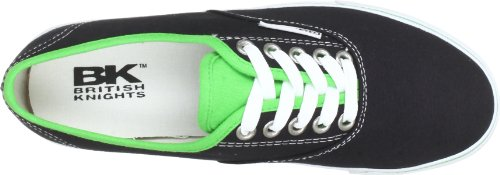 British Knights PICCOLO B31-3765 - Zapatillas de lona para mujer negro - Schwarz (black/green SMU 4)