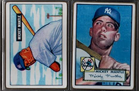 Mickey Mantle 1951 Bowman And 1952 Topps Rookies Two