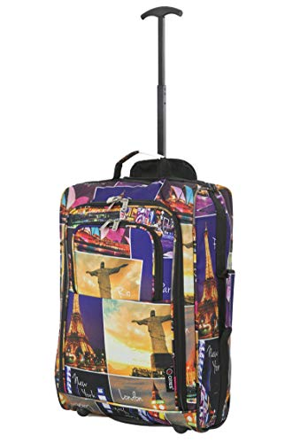 City Trolley - 5 Cities 21 Inch Carry On Wheeled Travel Trolley Bag (55CM, Night Cities)
