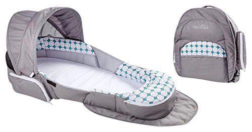 Baby Delight Snuggle Nest Traveler Bl, Diamond Lattice - Gray/Aqua