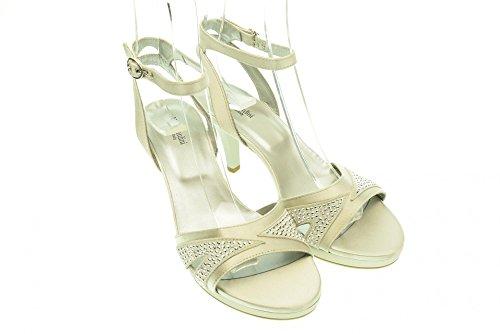 NOIR P513010DE 700 talon sandales à JARDINS Argento femme rURqrz