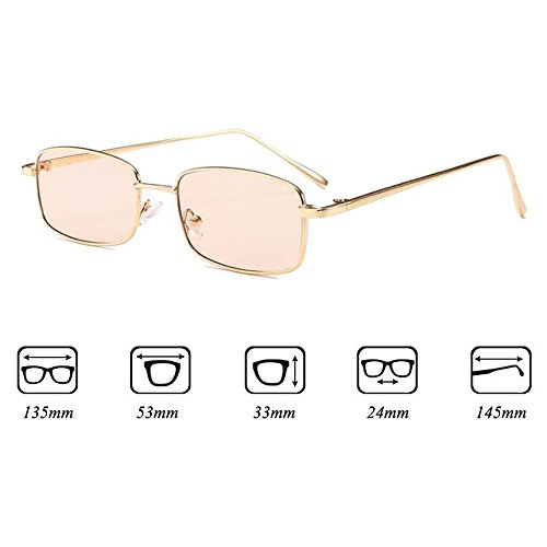 Gafas Vintage Gafas de Lens Transparentes C10 Retro Clear Sunglasses Square Mujeres Highdas Eyewear sol Small Hombres qfIR00
