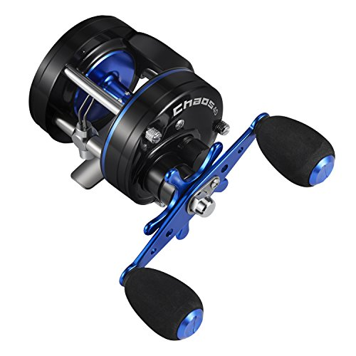 Piscifun Chaos Round Baitcasting Reel Reinforced Metal Body Baitcaster Conventional Saltwater Fishing Reels 40 Left Handed
