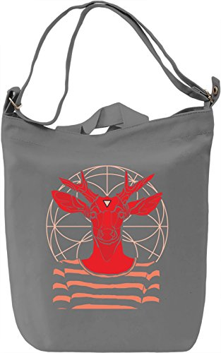 Mandala deer Borsa Giornaliera Canvas Canvas Day Bag| 100% Premium Cotton Canvas| DTG Printing|