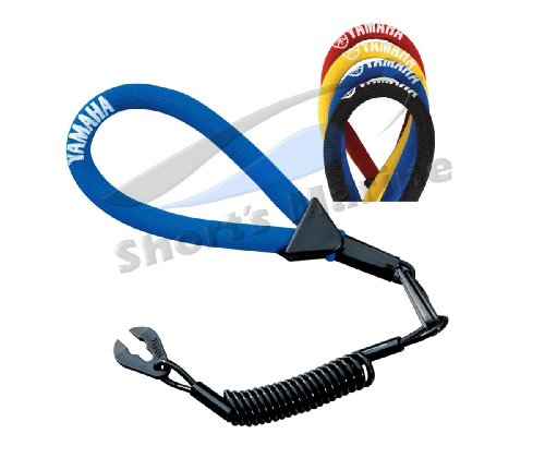 Yamaha OEM WaveRunner PWC Watercraft Floating Lanyard - Black MWV-LANCD-00-BK; MWVLANCD00BK (Lanyards Floating Pro)