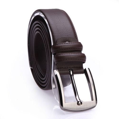 Men's Gents' Real Genuine Leather Waistband Alloy Pin Buckle Waist Belt - Bridle 35 Mm