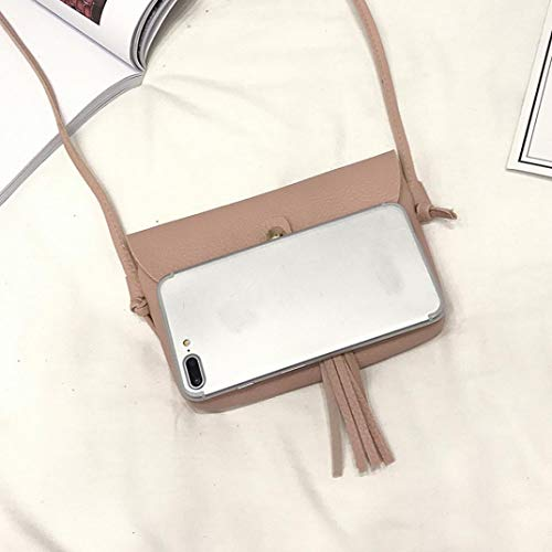 Messenger Bag Fashion Shoulder Vintage Handbag Tassel with PINK Woman's Bags Mini Bafaretk Small 4zqwOxw