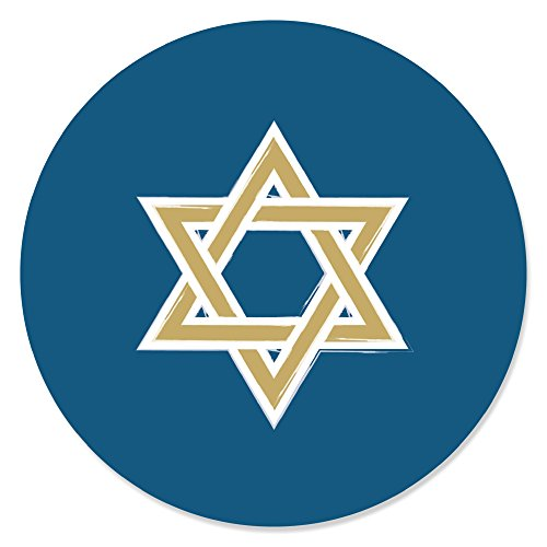 Happy Hanukkah - Chanukah Party Circle Sticker Labels - 24 Count ()