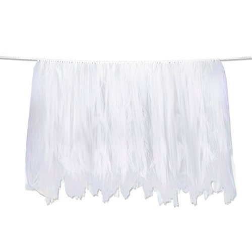 Tutu Table Skirt - Fluffy Tulle Tablecloth, Party Tableware,