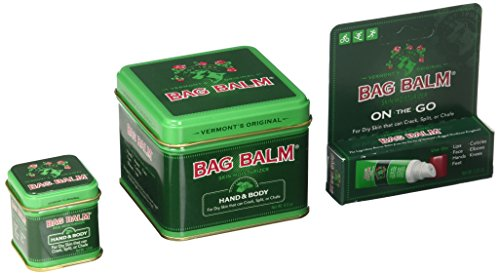 Bag Balm Bundle (8 Ounces, 1 Ounces Tins and On-The-go Tube) - Bag Gems Ounce 10