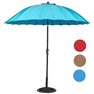 Sundale al aire libre Patio Jardín 9ft al aire libre mercado paraguas con 24varillas de fibra de vidrio y tela UV resistente poliéster