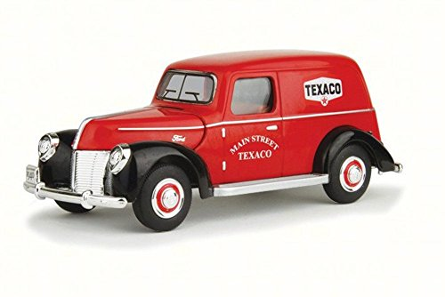 1940 Ford Panel (1940 Ford Panel Van Texaco, Red - Texaco 0606R - 1/18 Scale Diecast Model Toy Car)