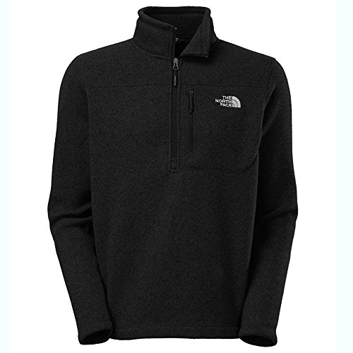 North Face Running Jacket (The North Face Gordon Lyons 1/4 Zip Men's TNF Black Heather Medium)