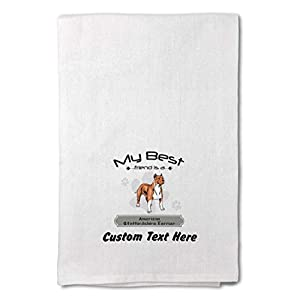 Custom Decor Flour Kitchen Towels Friend American Staffordshire Terrier Pets Dogs Cleaning Supplies Dish Towels Design Only 17