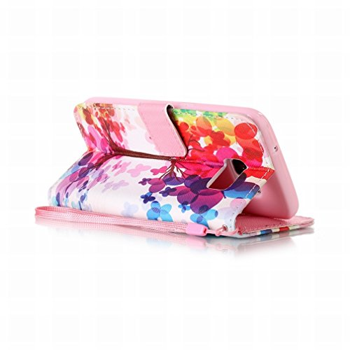 Yiizy Samsung Galaxy S7 / G930 Funda, árboles Coloreados Diseño Solapa Flip Billetera Carcasa Tapa Estuches Premium PU Cuero Cover Cáscara Bumper Protector Slim Piel Shell Case Stand Ranura para Tarje