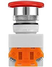 NC N/C Emergency Stop Schakelaar Drukknop Paddestoel Drukknop 4 Schroef Terminal 600V/10A Plastic Oppervlak 40mm Knop