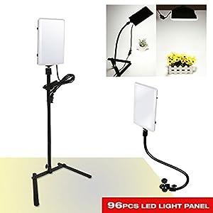 LED Light Stand Gooseneck Photography Studio Video Light Panel Camera Photo Video Lighting