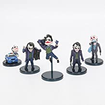 anime The Dark Knight Joker 5pcs/set PVC Action Figure The Collectible Model Toy 3.5~5.8cm children gift
