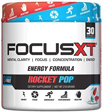 Focus XT – Mental Clarity, Focus, Concentration, Improved Performance, Energy Rocket Pop