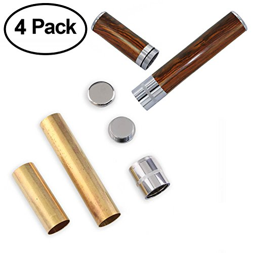 Legacy Woodturning, Cigar Humidor Project Kit - Chrome 4 Pack by Legacy Woodturning