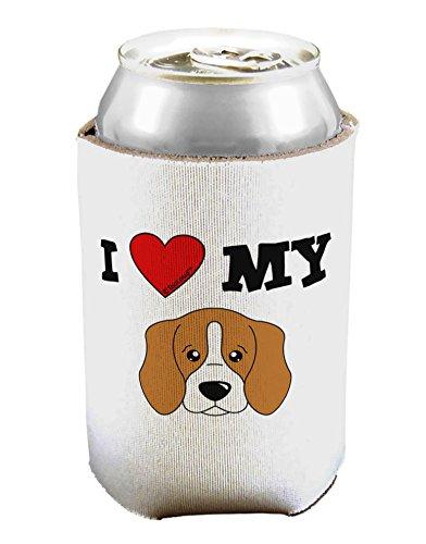 TooLoud I Heart My - Cute Beagle Dog Can/Bottle Insulator Cooler - 2 Pack