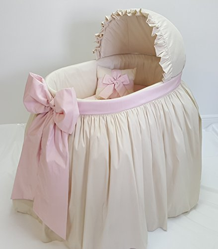 Bows Bassinet - Heirloom Corp. Sweet Angel Fancy Baby Bassinet Combo (Ivory Pink)