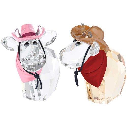 Swarovski Cowboy Cowgirl Mos Figurine, Limited Edition 2014