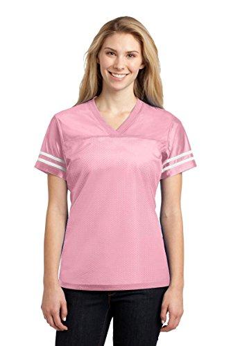 Sport-Tek Women's PosiCharge Replica Jersey 4XL Light Pink/ White (Replica Mesh)