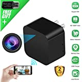 Spy Camera Wireless Hidden Camera USB Wall Charger, WiFi Nanny Cam 1080P HD Mini Camera for Security Surveillance, Motion Detection Camera Plug in with Phone APP for Home Security
