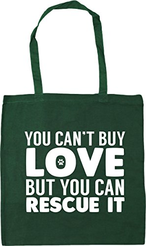 can Shopping you Beach 42cm Bag Gym x38cm it Tote Bottle Green You 10 can't buy but rescue love HippoWarehouse litres 6XYwv67