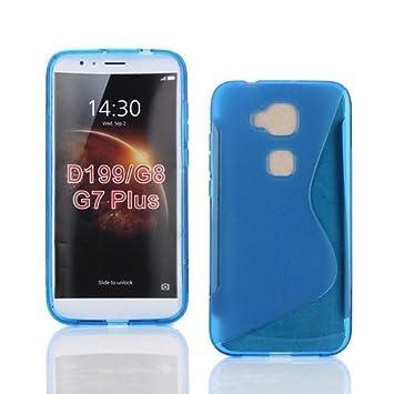 Sastremovil Funda TPU para MOVIL Huawei G8/G7 Plus, Carcasa Protectora Gel Ultrafina Azul