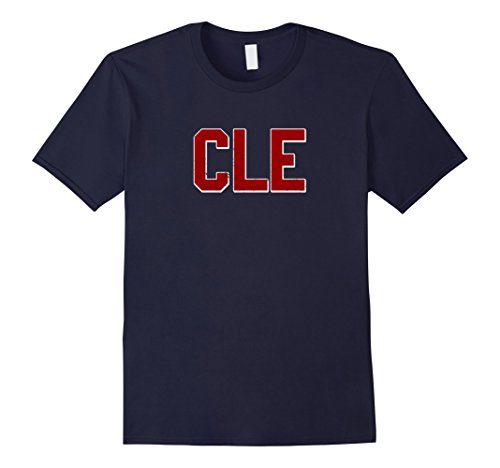 Mens Cleveland Ohio Baseball CLE T-Shirt XL Navy (Cleveland Indians Shirt)