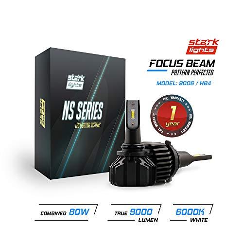 (Stark NS Series [UPGRADED] 80W Headlight Conversion Kit - 9000LM - 6000K Crystal White - Bulb Size: 9006/HB4)