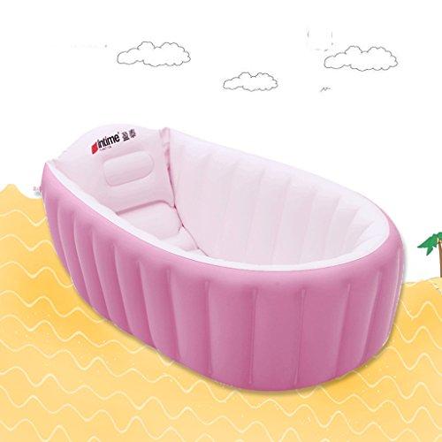 Cqq Bathtub Baby Bath Tub Children Can Tub Folding Large Inflatable (Color : Pink) by Bathtub