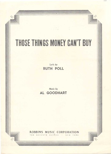 Those Things Money Can't Buy Sheet Music