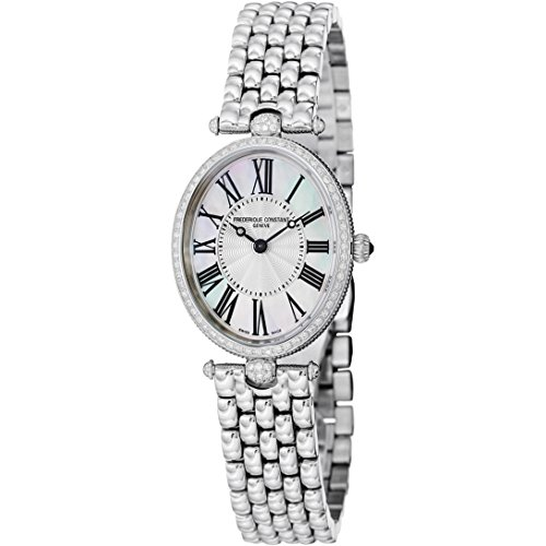 Frederique Constant Women's FC200MPW2VD6B Art Deco Diamond-Accented Stainless Steel Watch ()