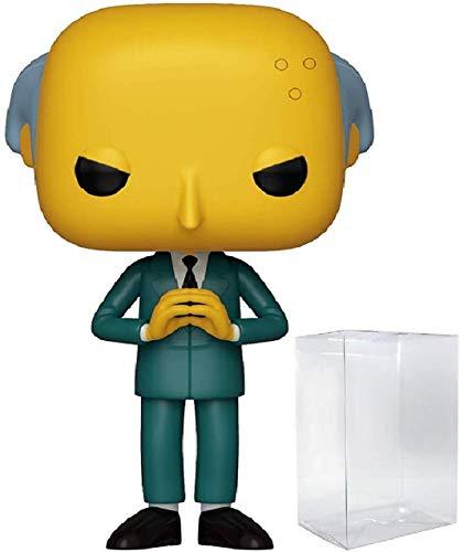 Funko The Simpsons - Mr. Burns Pop! Vinyl Figure (Includes Compatible Pop Box Protector Case) - Mr Burns Homer Simpson