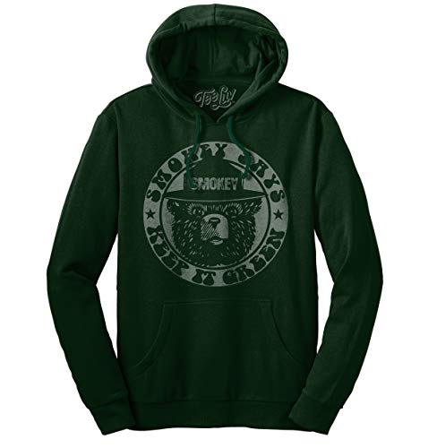 Tee Luv Smokey Bear Hoodie - Keep It Green Hooded Smokey Bear Sweatshirt (XL)