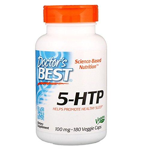 Caps Vegetarian Mg 100 (Doctor's Best 5-HTP, Non-GMO, Vegan, Gluten Free, Soy Free, 100 mg, 180 Veggie Caps)