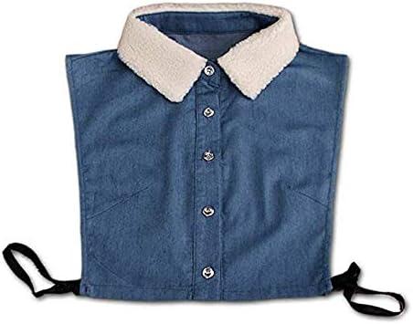 Zeagro - Collar de Mezclilla para Mujer y Hombre, Cuello Falso, Cuello Desmontable, Solapa: Amazon.es: Hogar