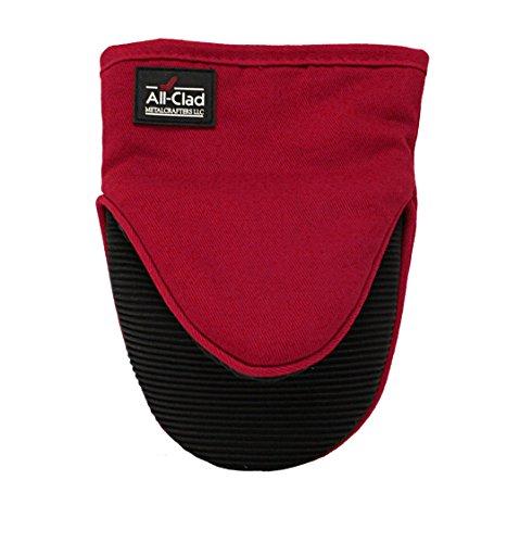(All Clad Textiles Professional Silicone Grabber Mitt, Chili Red)