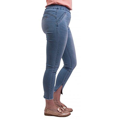 Coupe Primtex Femme Bleu 7 Ciel Jean Claire Haute Taille 8me lastique Jegging en Z4q81