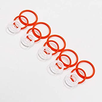 5 Pack Silicone Seals Rings Replacement O Ring Set Rubber Seal Gasket Various Model Available Style 2-Orange-5PACK