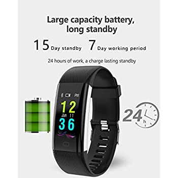 Amazon.com: Glumes Reloj inteligente Bluetooth con corazón ...
