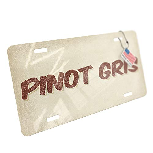 (NEONBLOND Pinot Gris Wine, Vintage Style Aluminum License Plate)