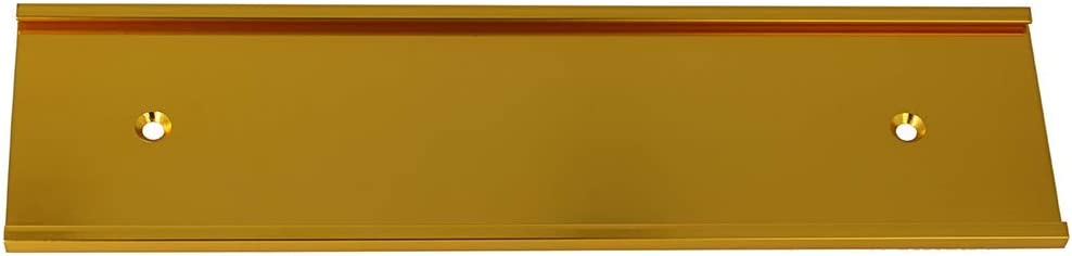 """2"""" x 8"""" Aluminum Wall Mounted Name Plate Holder - Office Business Door Sign Holder - Wall or Door - Gold"""