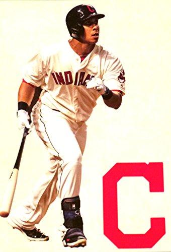 Michael Brantley Mini FATHEAD + Cleveland Indians Logo Official MLB Vinyl Wall Graphics 7