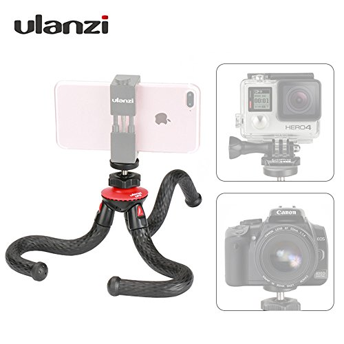 Ulanzi Mini Flexible Octopus Mobile Tripod With Phone Holder Adapter for iPhone X Smartphone DSLR Camera Nikon Canon Gopro Hero by Ulanzi