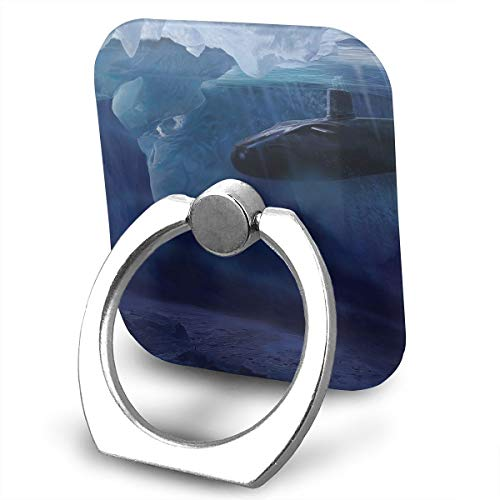 Square Finger Ring Stand 360°Rotation Phone Holder Grip Iceberg Submarine Vehicle Kickstand for Smartphones and Ipad
